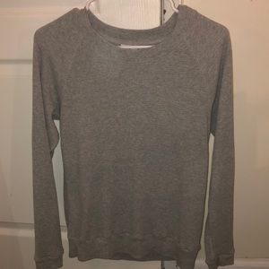 grey aritzia/tna long sleep top